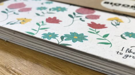 New: Plantable notebooks
